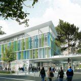 perspective Jean Jaurès - bâtiment compact libérant la cour